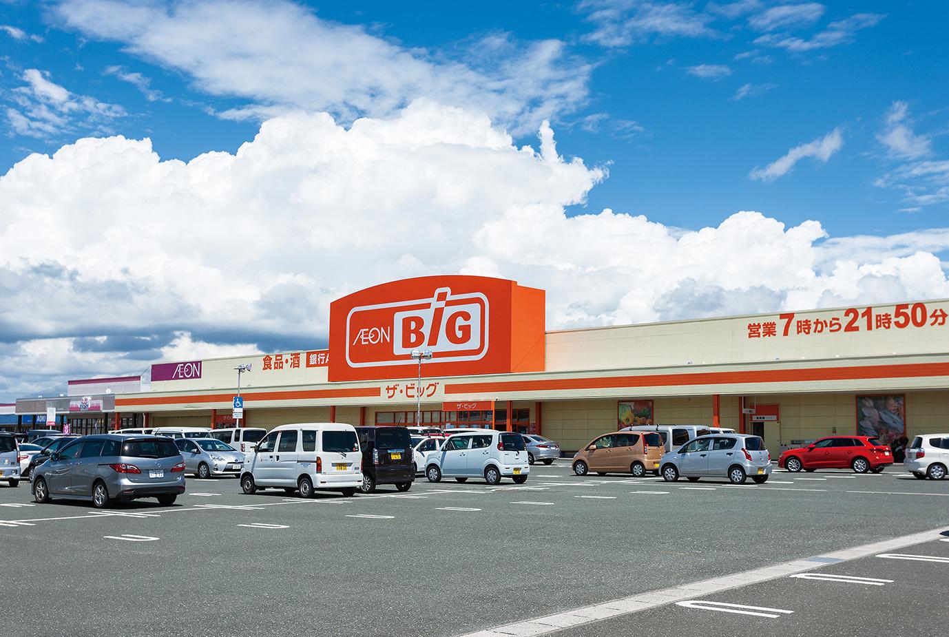 複合商業施設「イオンタウン湖西」すぐ横!スーパーの「ザビッグ」やホームセンターの「ナフコ」が出店しています。