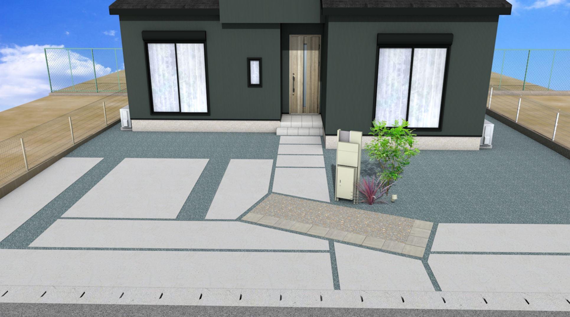 完成イメージ図②。駐車場は3台停められます。