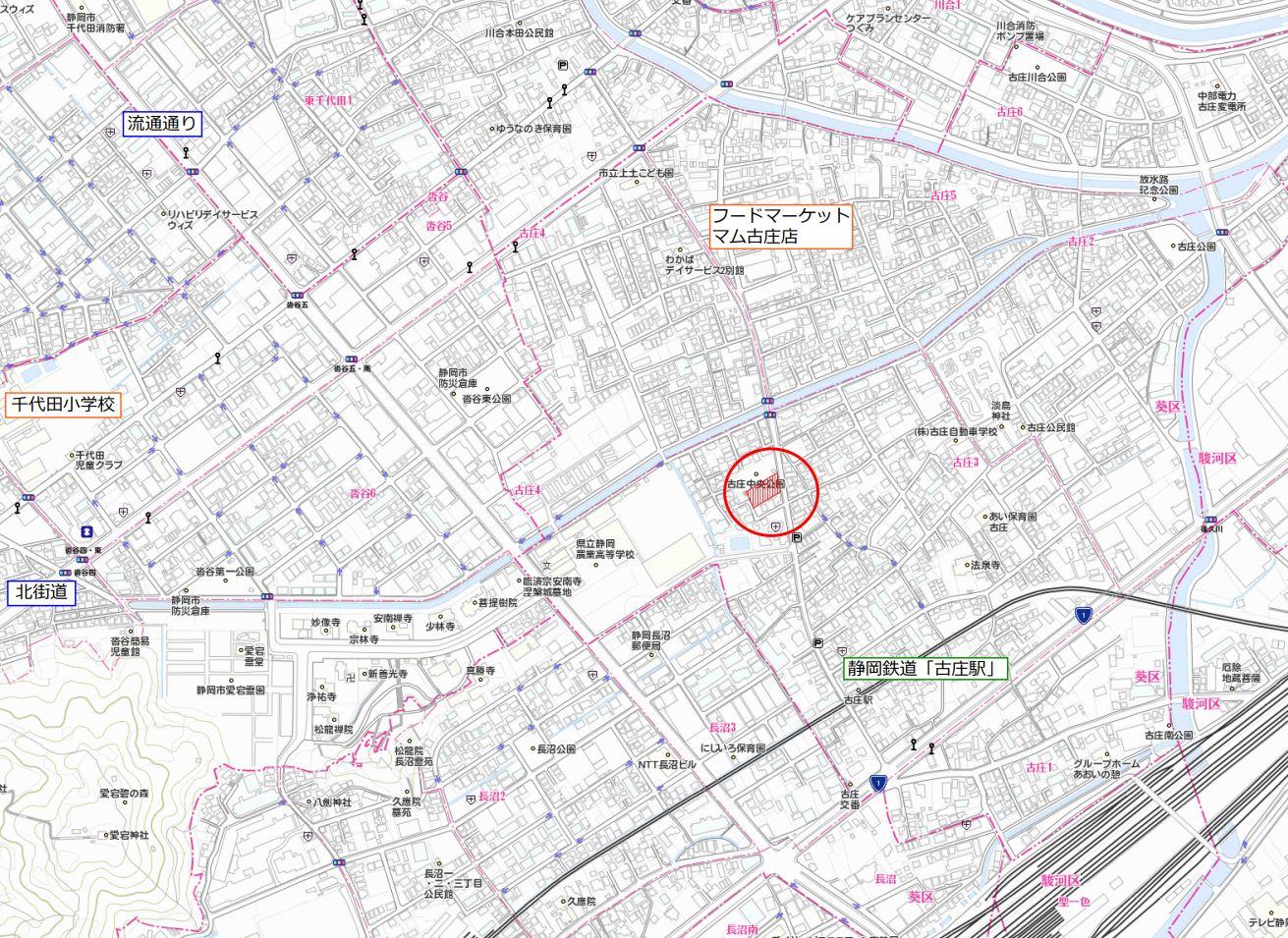 ナビ検索は「静岡市葵区古庄三丁目2-56」でお越しください。
